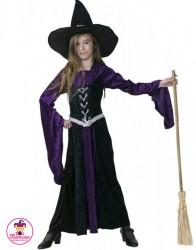 Kostium Czarownica czarno-fioletowa