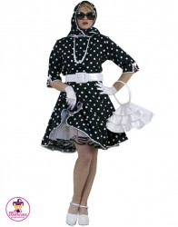Sukienka karnawałowa Lata 50-te czarna