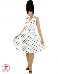 Sukienka karnawłowa Lata 70-te biała