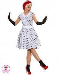 Strój Rock'n'Roll biała sukienka