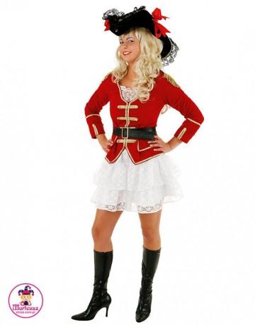 Strój Lady Piratka czerwona