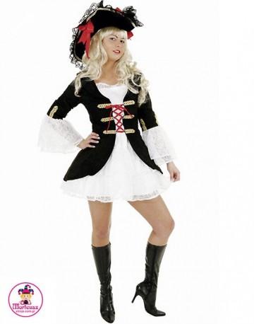 Strój Lady Piratka czarna