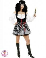 Strój Lady Piratka paski