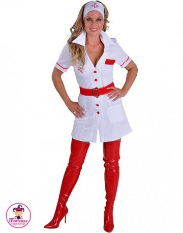 Strój Pielęgniarka biało-czerwona