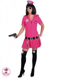 Strój Sexy Policjantka Róż