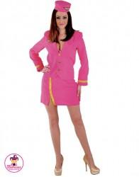 Strój Stewardessa pink
