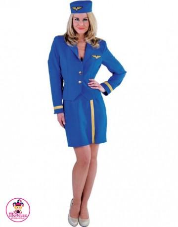 Strój Stewardessa Niebieska
