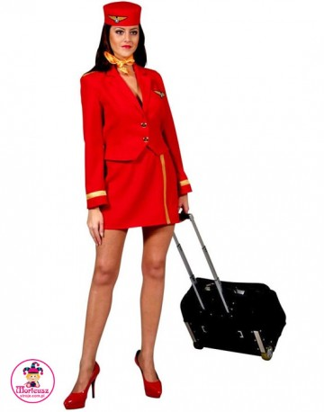 Strój Stewardessa Czerwona