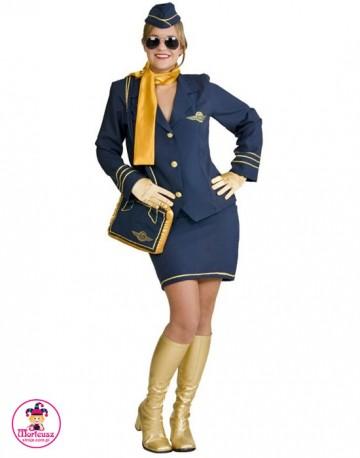 Strój Stewardessa Granatowa