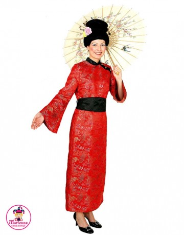 Strój Chinka Czerwona