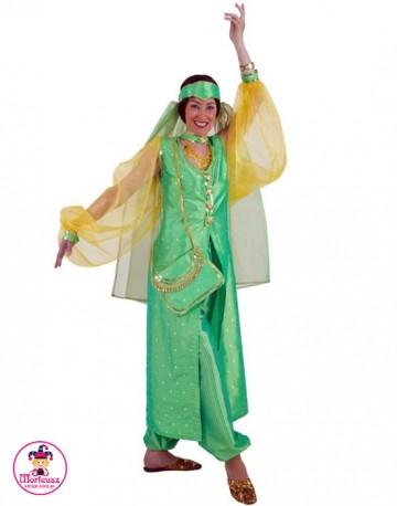 Strój Hinduska Zielona