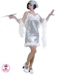 Strój Glamour Girl srebrna
