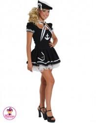 Stój Pani Marynarz czarna sukienka
