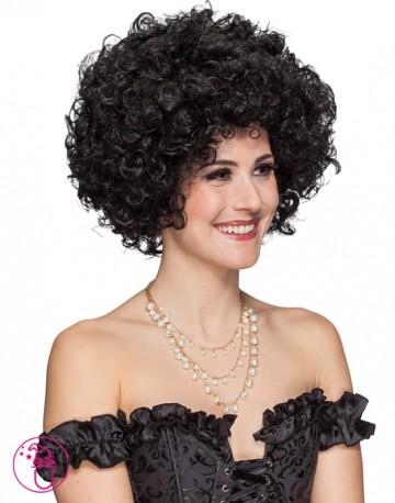 Peruka damska Duże Loczki czarna 30048