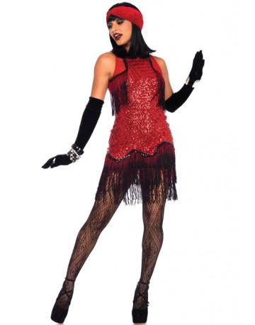 Strój Gatsby Girl czerwona